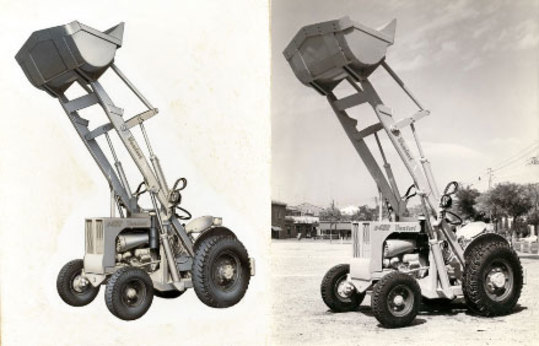 Image of Venieri's first loaders model Micron 20, Slanzi 22 HP engine